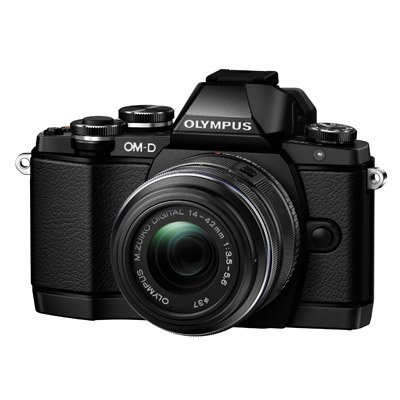 Olympus OM-D E-M10, front