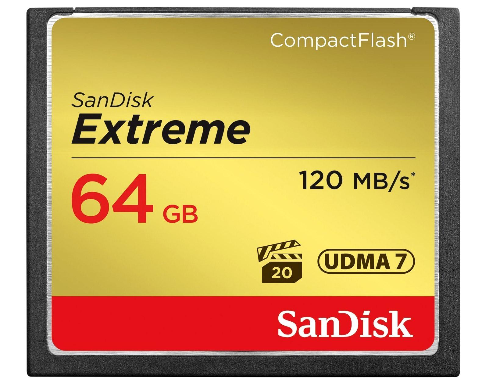 Sandisk Extreme CF 64 GB 120 MB S