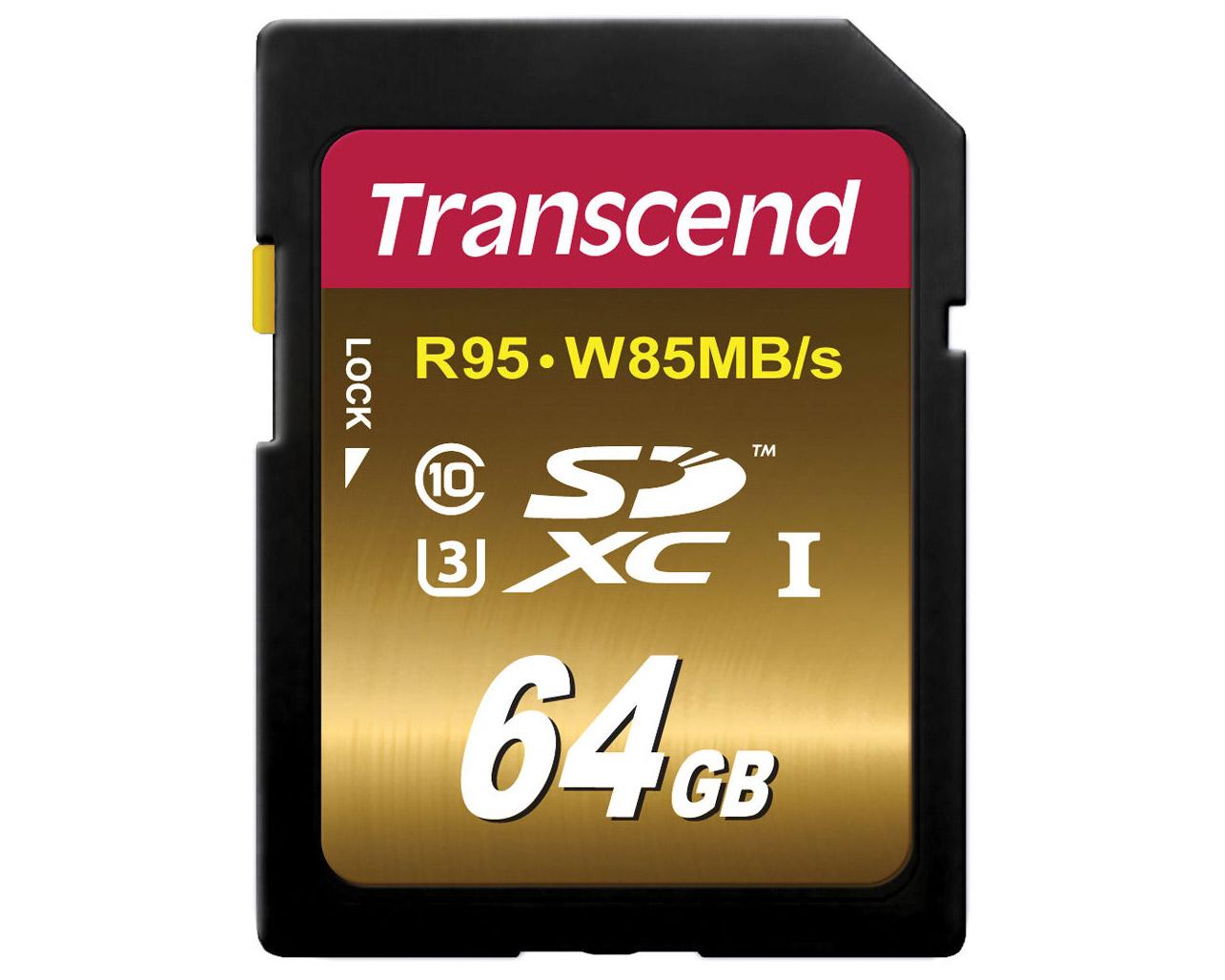 Transcend SDXC 64 GB R95 W85MB S