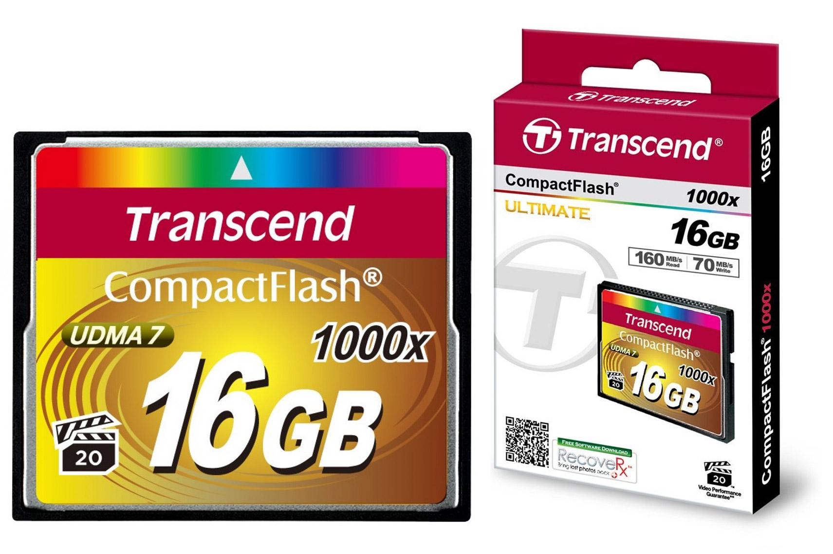 Hasil gambar untuk compact flash 1000x transcend 16gb
